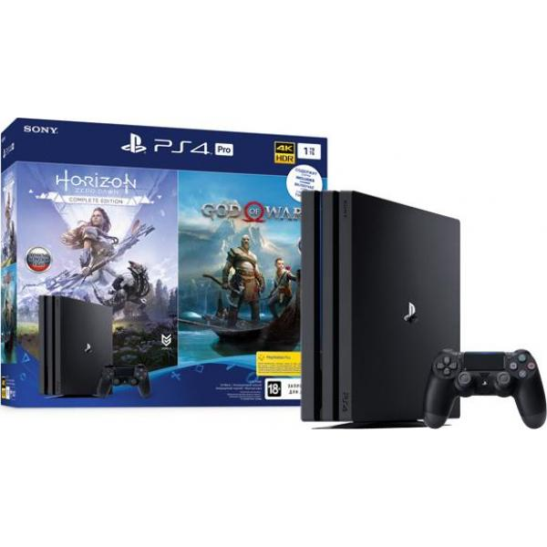 Игровая приставка Sony PlayStation 4 Pro 1TB Black+Horizon Zero Dawn/God Of War