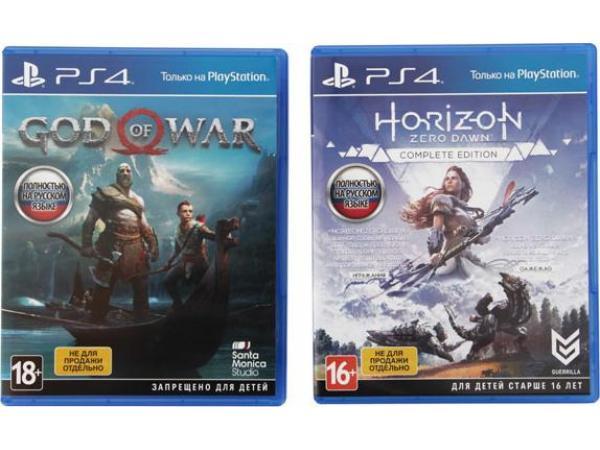 Игровая приставка Sony PlayStation 4 Pro 1TB Black+Horizon Zero Dawn/God Of War