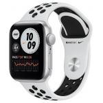 Умные часы Apple Watch SE GPS 40мм Aluminum Case with Nike Sport Band Cеребристый/чистая платина/черный